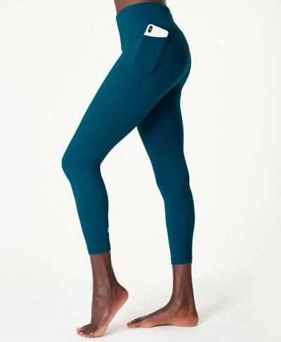 Power 7/8-Fitnessleggings, Teal Blue | Sweaty Betty
