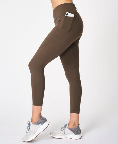 Power 7/8 Gym Leggings, Turkish Coffee Brown | Sweaty Betty