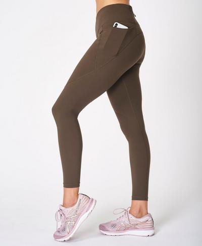 Power Gym Leggings, Turkish Coffee Brown | Sweaty Betty