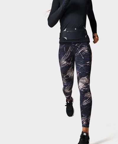Zero Gravity High-Waisted Running Leggings, Black Orbit Print | Sweaty Betty