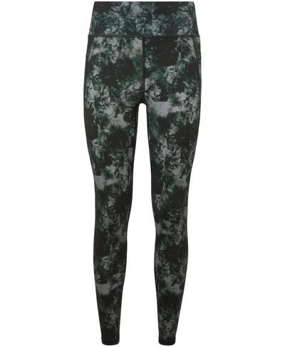 Zero Gravity High Waisted Running Leggings, Green Tie Dye Print | Sweaty Betty