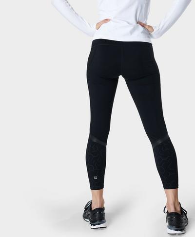Zero Gravity High-Waisted 7/8 Running Leggings, Black Light Reflect Print | Sweaty Betty