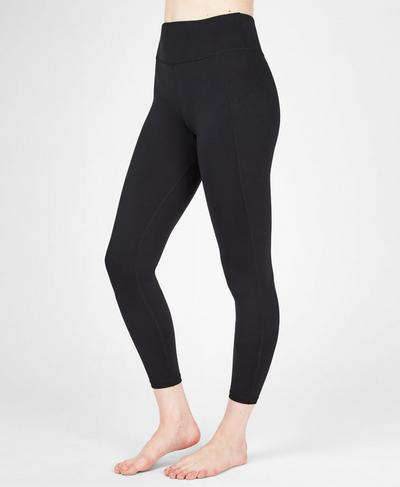All Day Contour 7/8 Gym Leggings, Black | Sweaty Betty