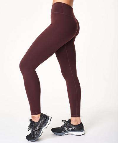 All Day Gym Leggings Leggings, Black Cherry Purple | Sweaty Betty