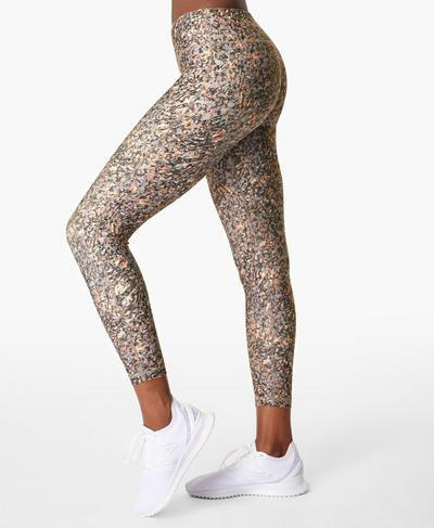 All Day 7/8 Gym Leggings, Grey Pebble Print | Sweaty Betty