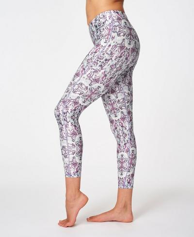 All Day Contour 7/8 Workout Leggings, Purple Dreams Print | Sweaty Betty