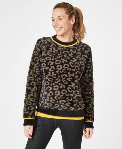 Islington Sweater, Dark Taupe Leopard | Sweaty Betty