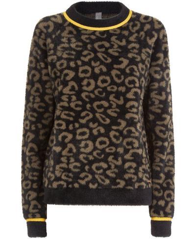 Islington Jumper, Dark Taupe Leopard | Sweaty Betty