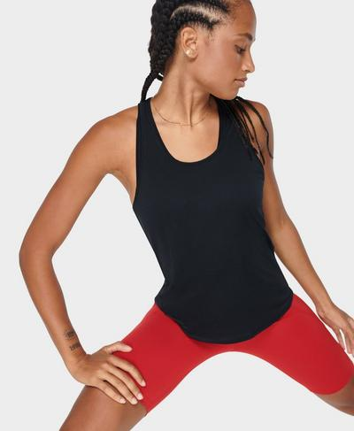 Energise Gym Vest, Black | Sweaty Betty