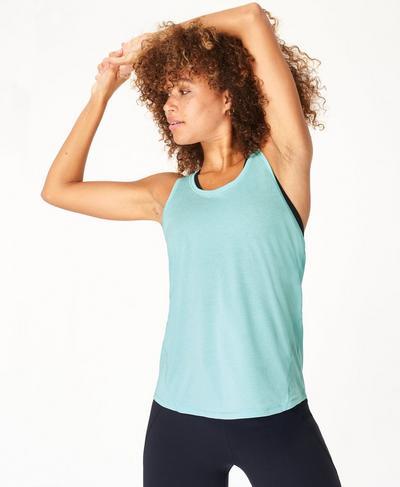 Energise Gym Vest, Blue Lagoon | Sweaty Betty