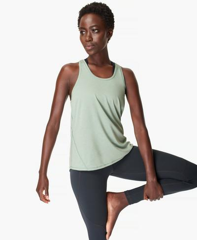 Energise Gym Tank, Marina Green | Sweaty Betty