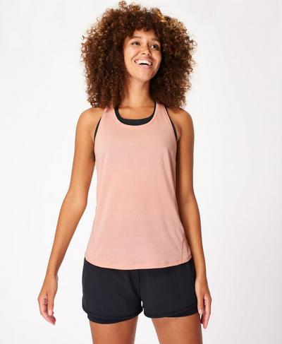 Energise Workout Tank, Misty Rose Pink | Sweaty Betty