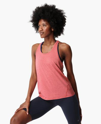 Energise Gym Tank, Tayberry Pink | Sweaty Betty