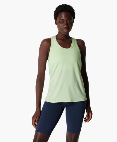 Energise Gym Tank, Utopia Green | Sweaty Betty