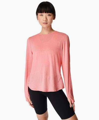 Energise Long Sleeve Workout Top, Calypso Pink | Sweaty Betty