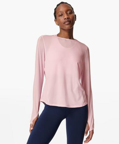 Energise Long Sleeve Gym Top, Nerine Pink | Sweaty Betty