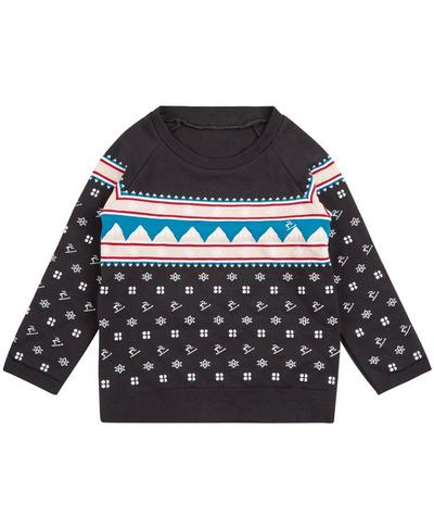 Baby Betty Fairilse Long Sleeve Top, Betty Fairisle Jacquard | Sweaty Betty