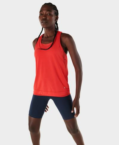Double Time Seamless Gym Vest, Pentas Red | Sweaty Betty