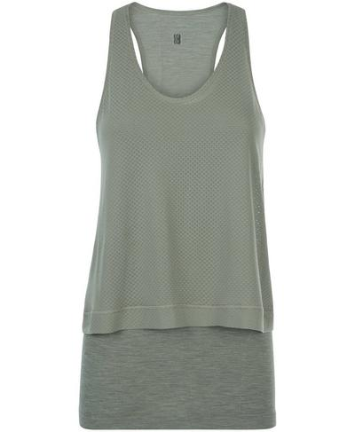 Double Time Seamless Workout Tank, Sage Green | Sweaty Betty