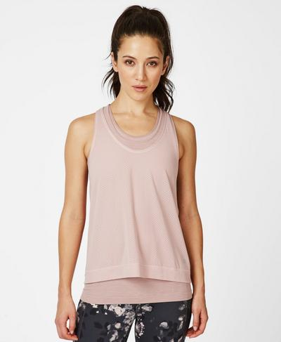 Double Time Seamless Workout Tank, Velvet Rose Pink | Sweaty Betty