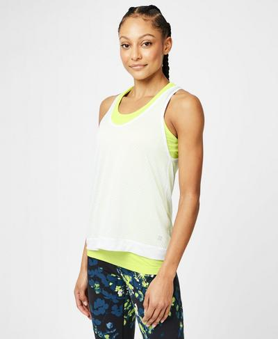 Double Time Seamless Workout Tank, White | Sweaty Betty