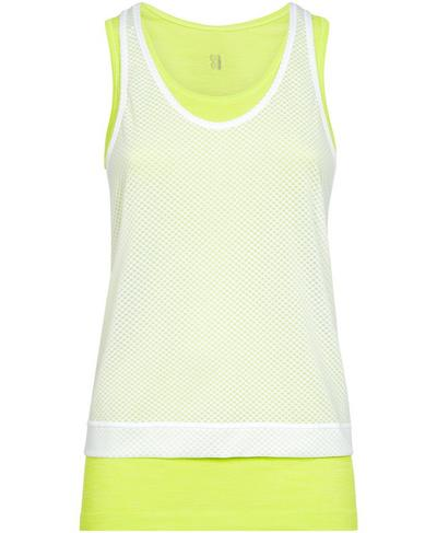 Double Time Seamless Gym Vest, White | Sweaty Betty