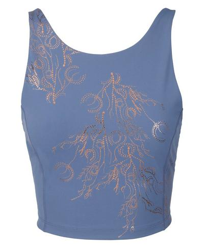 Goddess Workout Tank, Crown Blue Bronze Foil Print | Sweaty Betty