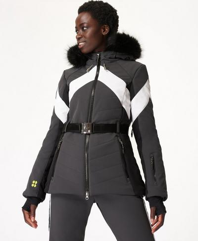 Method Ski Jacket, Slate Grey Colour Block | Sweaty Betty