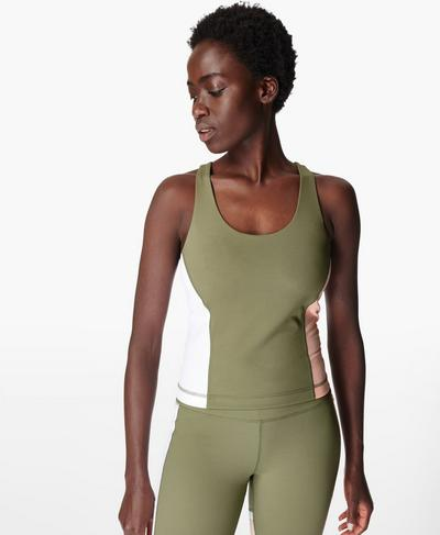 Power-Workout-Top, Moss Green | Sweaty Betty