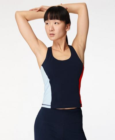 Power Workout Tank, Navy Blue | Sweaty Betty