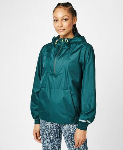 Anorak Overhead Jacket, June Bug Green | Sweaty Betty