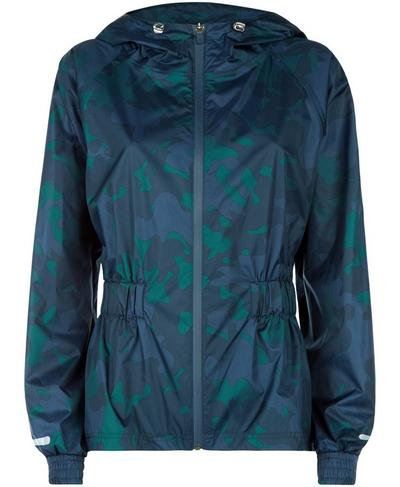 Storm Seeker Batwing Jacket, Beetle Blue June Bug Camo | Sweaty Betty