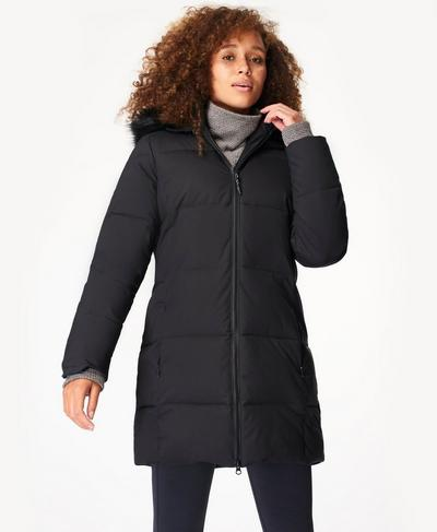 Base Camp Puffer Jacket, Black | Sweaty Betty