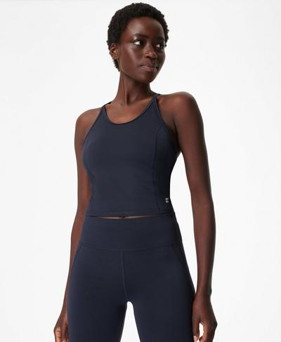All Day Vest, Navy Blue | Sweaty Betty
