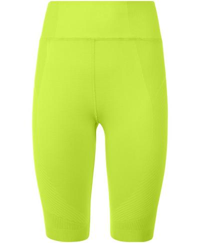 "Seamless 9"" Biker Shorts, Lime Punch Green 