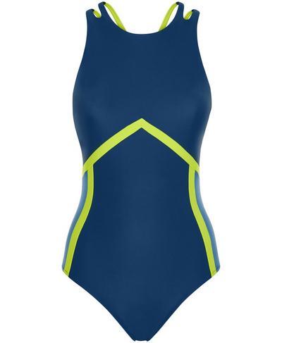 Medley Swimsuit, Beetle Blue | Sweaty Betty