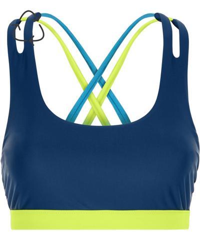 Synchronised Swim Bikini Top, Beetle Blue | Sweaty Betty