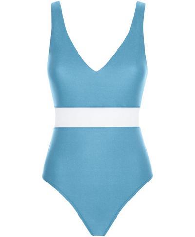Poolside Swimsuit, Stellar Blue | Sweaty Betty
