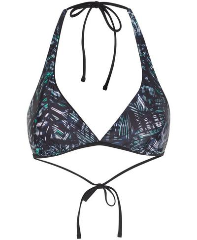 Reversible Triangle Swim Bikini Top, Beetle Blue Hot to Croc Print | Sweaty Betty