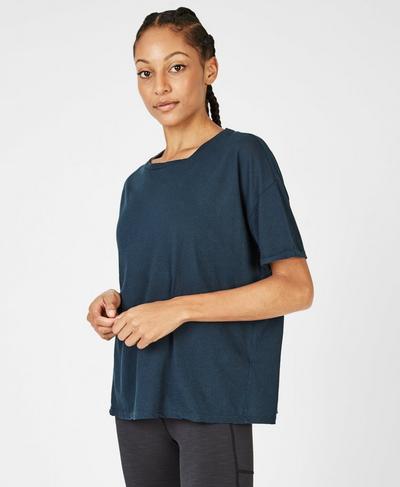 Elemental T-Shirt, Beetle Blue | Sweaty Betty