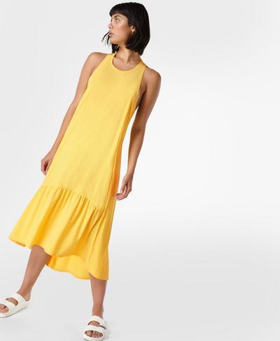 Explorer Ace Midi Dress, Butter Yellow | Sweaty Betty
