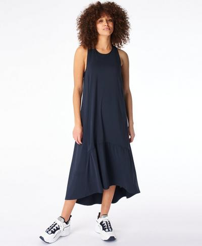 Explorer Ace Midi Dress, Navy Blue | Sweaty Betty