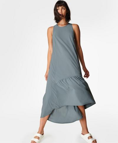Explorer Ace Midi Dress, Steel Blue | Sweaty Betty