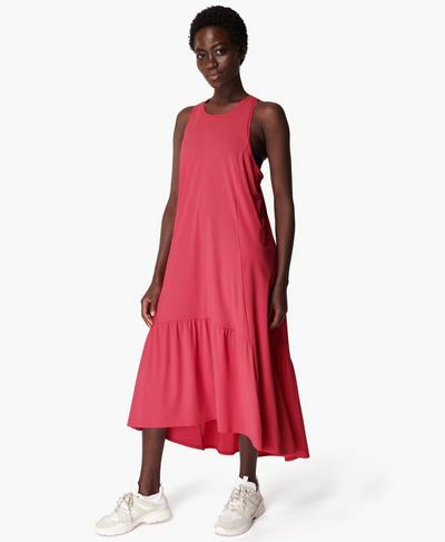 Explorer Ace Midi Dress, Tayberry Pink | Sweaty Betty