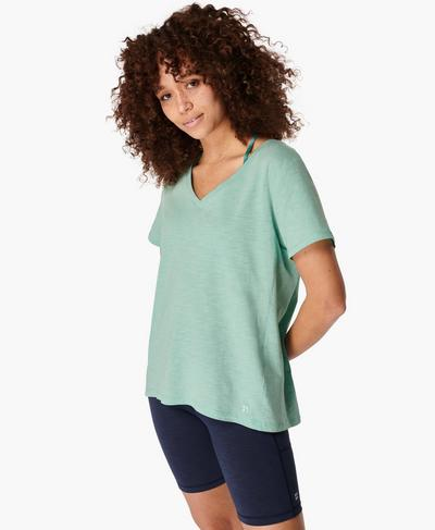 Refresh T-Shirt, Algarve Green | Sweaty Betty