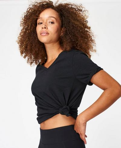 Refresh Tee, Black | Sweaty Betty