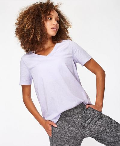 Refresh Tee, Heather Purple | Sweaty Betty