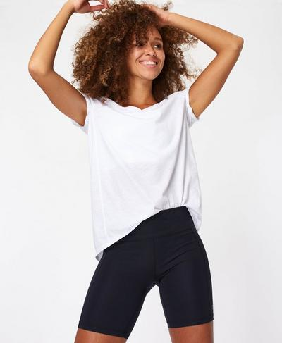 Refresh Tee, White | Sweaty Betty