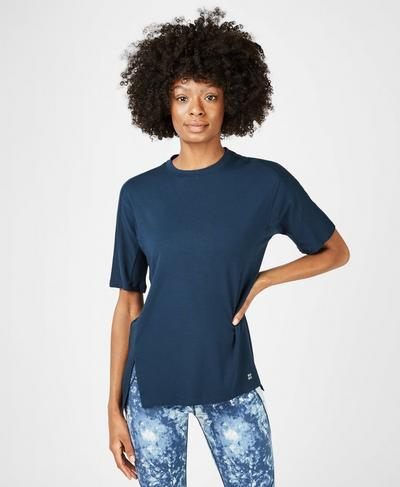 Hampstead Workout T-Shirt, Beetle Blue | Sweaty Betty