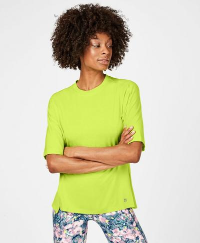 Hampstead Workout T-Shirt, Lime Punch Green | Sweaty Betty